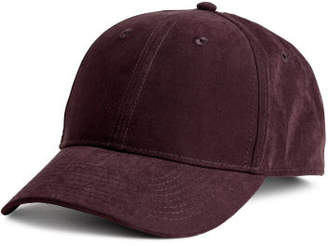 H&M Nepped Satin Cap - Red