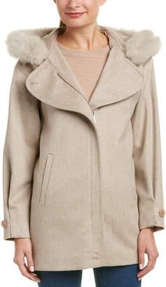 Sofia Cashmere sofiacashmere Sofiacashmere Hooded Wool-Blend Parka