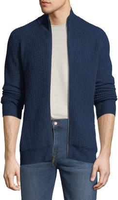 aec5546ebcd ... Neiman Marcus Men s Cashmere Mock-Neck Zip Front Jacket