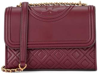 Tory Burch Fleming Small Wine Red Shoulder Bag