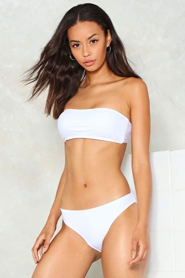 nastygal Keep Your Cool Bandeau Bikini Top