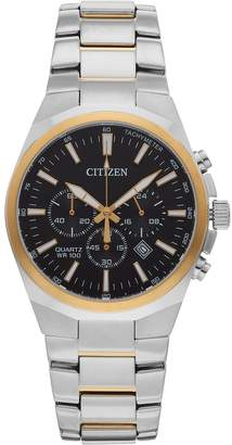 Citizen Men's Two Tone Stainless Steel Chronograph Watch - AN8174-58E