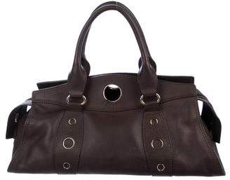 Celine Grommet-Accented Leather Handle Bag