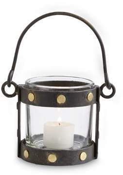 Mud Pie Brass Studded Votive Metal Lantern
