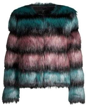 Alice + Olivia Unreal Fur The Elements Faux Fur Jacket