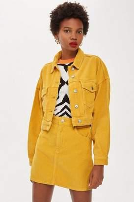 Topshop Mustard Corduroy Jacket