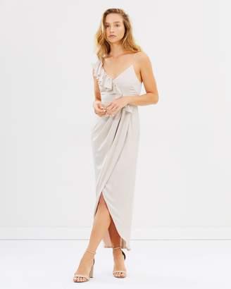 Shona Joy Luxe Asymmetric Ruffle Dress