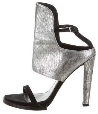 Alexander Wang Metallic Ankle Strap Sandals