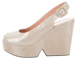 Robert Clergerie Metallic Dylane Wedges