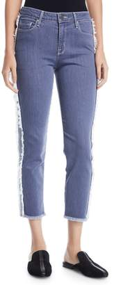 Parker Smith Side-Fray Crop Straight-Leg Jeans