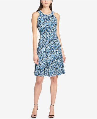 Tommy Hilfiger Floral Printed Sleeveless A-Line Dress
