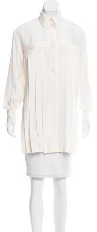 Chanel Pleated Silk Tunic w/ Tags