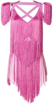 Nina Ricci fringed strappy top