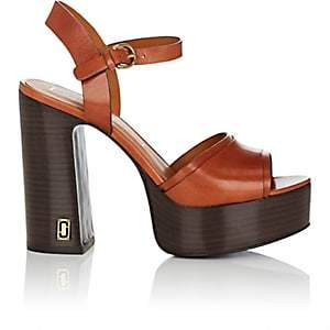 Marc Jacobs Women's Lust Status Leather Platform Sandals-Rust