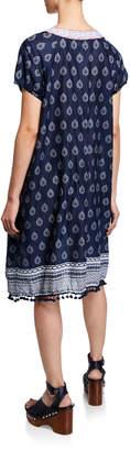 Nordic Pure Embroidered Mini Shift Dress