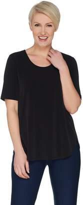 Susan Graver Modern Essentials Liquid Knit ScoopNeck Tunic