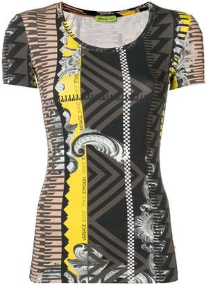 Versace printed fitted T-shirt