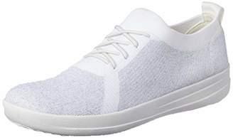 2b35a76f9 FitFlop Women s F-Sporty Tm Überknit Sneakers Trainers Metallic  Silver Urban White 567