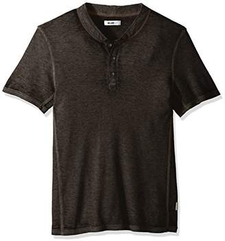 William Rast Men's Jacob Logo Short Sleeve Henley Tee
