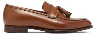 Crockett Jones Hillier Bartley - X Crockett & Jones Sophie Leather Loafers - Womens - Tan