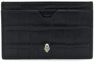 Alexander McQueen skull crocodile-embossed cardholder