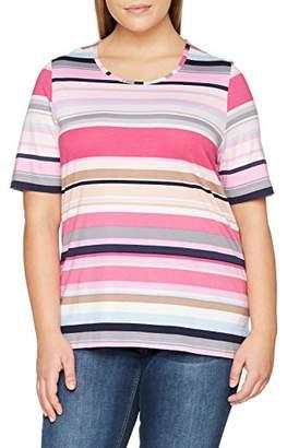 Ulla Popken Women's Shirt Mit Streifen, Classic T-Shirt