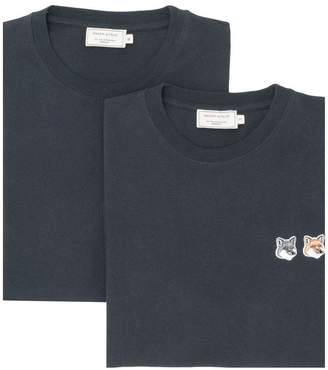 MAISON KITSUNÉ foxes patch T-shirt