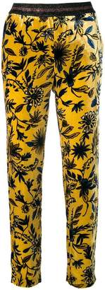 Ki6 floral print straight trousers