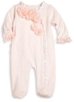 Miniclasix Baby's Asymmetrical Floral Cotton Footie $54 thestylecure.com