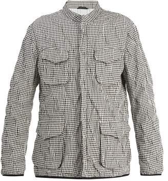 Giorgio Armani Stand-collar checked jacket