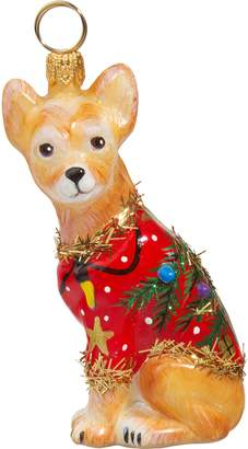Joy to the World Collectibles Ugly Christmas Sweater Dog Ornament
