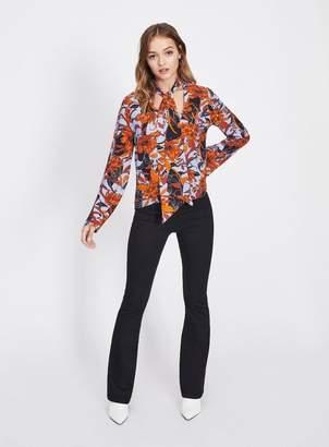 Miss Selfridge High rise jegging flare trousers