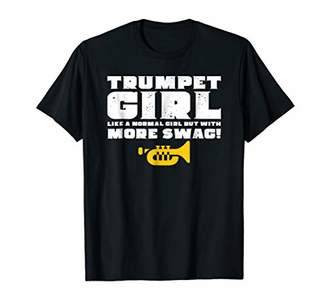 Funny Trumpet Girl Shirt Cool Marching Band Cute Gift