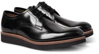 Grenson Lennie Polished-Leather Derby Shoes