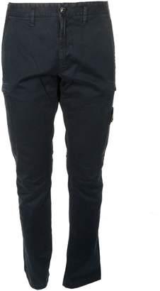 Stone Island Logo Patch Slim Cargo Trousers
