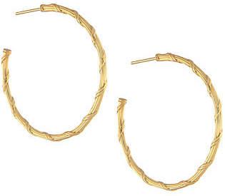 """Peter Thomas Roth 18K Gold Heritage 1-1/2""""Hoop Earrings"""
