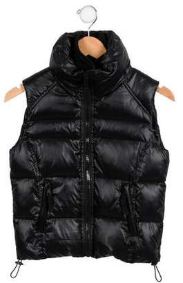 SAM. Girls' Down Mock Collar Vest