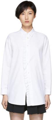 RED Valentino White Frill Shirt Dress
