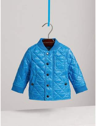 Burberry Topstitched Quilted Jacket , Size: 3Y, Blue