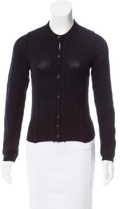 Prada Crew Neck Long Sleeve Cardigan