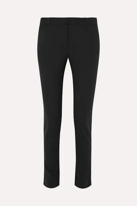 The Row Franklin Wool-blend Slim-leg Pants - Black