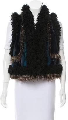 Anna Sui Paneled Faux Fur Vest
