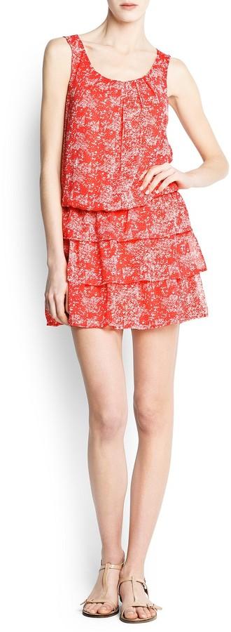 MANGO Ruffled floral dress