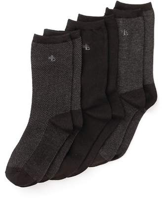 Ralph Lauren Tweed Trouser Socks, Set of 3