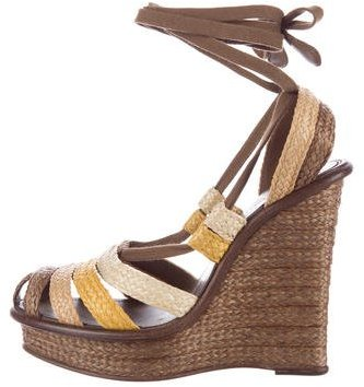 Bottega VenetaBottega Veneta Espadrille Wedge Sandals
