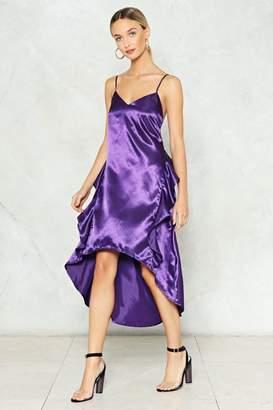 Nasty Gal A Royal Flush Satin Slip Dress