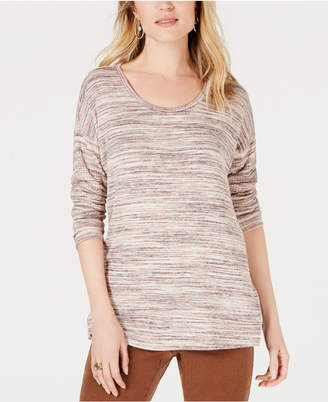 Style&Co. Style & Co Space Dye Scoop-Neck Top