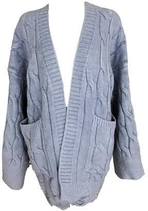 'Tanna' Cable-knit Distressed Hem Open Cardigan
