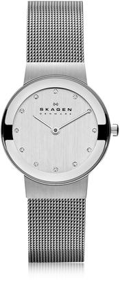 Skagen Freja Silvertone Stainless Steel Mesh Bracelet Women's Watch $168 thestylecure.com