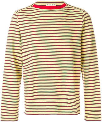 Marni boat neck striped T-shirt